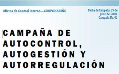 CAMPAÑA DE AUTOCONTROL, AUTOGESTIÓN Y AUTORREGULACIÓN
